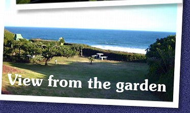 Relax in our beautiful garden overlooking the ocean at Bruni's Bed and Breakfast, Wilderness